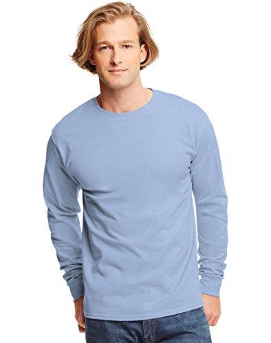 Hanes TAGLESS Long-Sleeve T-Shirt Light Blue 3XL