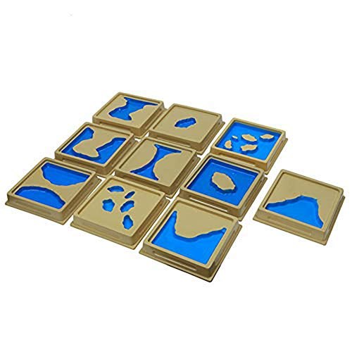 QLL Toddler Toy Montessori Materials Geography Mould Land and Water