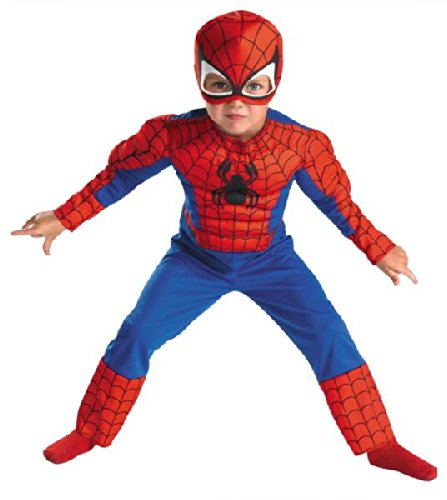(Spiderman Muscle Costume, Size: Child)