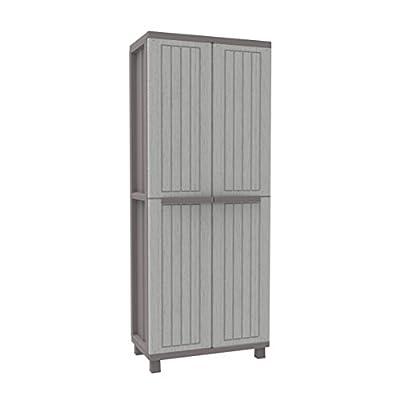 Terry Jwood 368 2 Door Plastic Storage Cabinet Grey