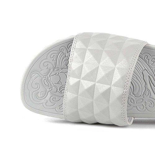 Studded Splash Silver Slider Silver Ash Schuhe xCnf5qwEat