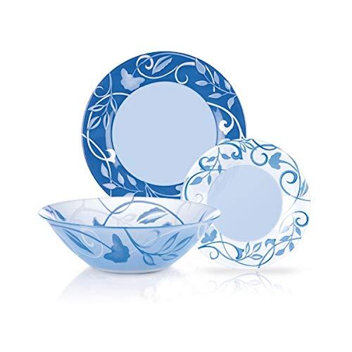 Luminarc Dinnerware Set Plenitude Blue 19-Piece for 6 Persons