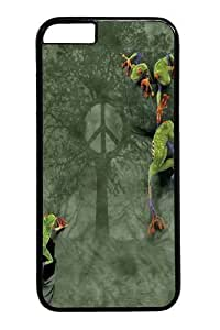 For Ipod Touch 4 Case Cover -Peace Tree Frog PC For Ipod Touch 4 Case Cover Black