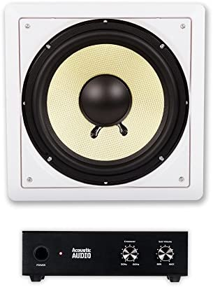 Acoustic Audio HD-S10 in Wall 10″ Residence Theater Passive Subwoofer Speaker and Amplifier