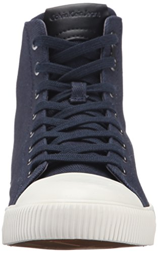 Calvin Klein CK Jeans Mens Arnaud Twill/Coating Fashion Sneaker Midnight/Black NcyboHAT