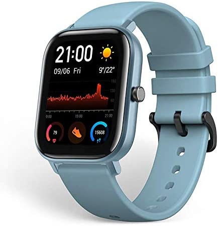 Amazfit GTS Smartwatch Fitness and Activities Tracker with Built-in GPS,5ATM Waterproof (Blue)