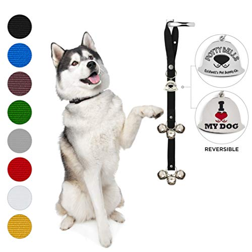 Potty Bells Housetraining Dog Doorbells for Dog Training and Housebreaking Your Doggy. Dog Bell with Doggie Doorbell and Potty Training for Puppies Instructional Guide