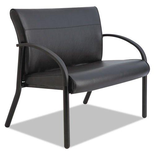 La-Z-Boy Gratzi Reception Series Bariatric Guest Chair, Black Vinyl - BMC-LZB BLF14AHBK - Series Bariatric Guest Chair
