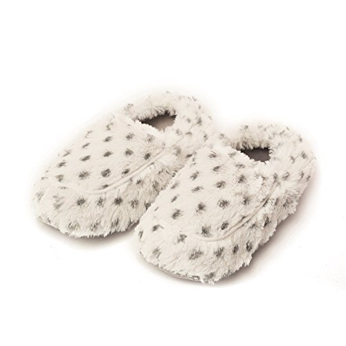 Greenlife Warmies Cozy Plush Lavande Parfumée Chaussons au micro-ondes Snow Leopard Fausse Fourrure
