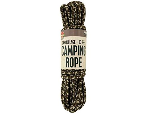K&A Company Camping Rope Cord Camouflage Paracord Parachute Climbing Nylon Survival Lanyard Case of 16