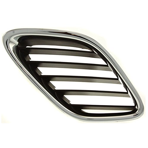 PASSENGER SIDE GRILLE Saab 9-3 ; CHROME//BLACK;. WITHOUT MFR MANUFACTURER EMBLEMS // LOGOS. THEY ARE TRADEMARK PROTECTED.