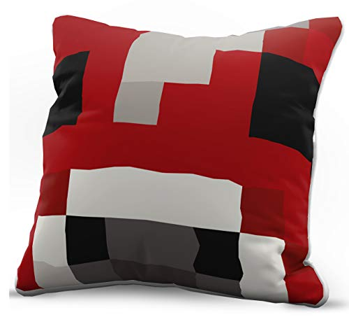 Jay Franco Minecraft Mooshroom Decorative Pillow Cover - Kids Super Soft 1-Pack Throw Pillow Cover - Measures...