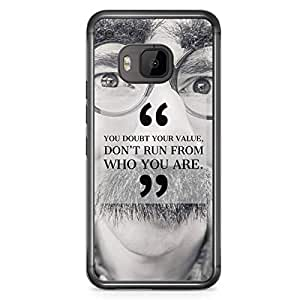HTC One M9 Transparent Edge Phone Case You Doubt Your Value Phone Case Motivation M9 Cover with Transparent Frame