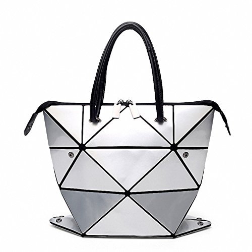 NEW new famous designer bag shiny color japanese style women handbag PU bags white women handbags shopping bag Silver