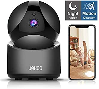 Wireless Security Camera, Home Security Surveillance WiFi Camera with Motion Detection, Pan/Tilt, Night Vision and Two Way Audio, Baby/Pet Monitor and Nanny Cam