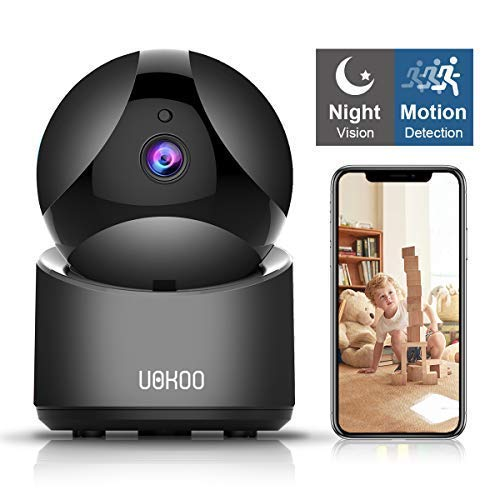 Wireless Security Camera, UOKOO HD Home Security Surveillance WiFi Camera with Motion Detection, Pan/Tilt, Night Vision and Two Way Audio, Baby/Pet Monitor and Nanny Cam