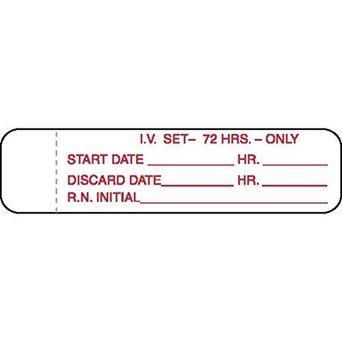 Medication Tubing Labels Iv (I.V. Tubing Labels 72 Hrs)