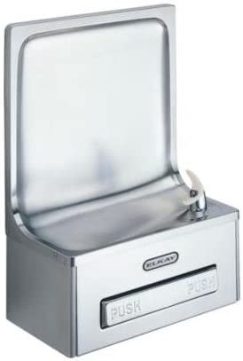 Elkay EDFP19C Semi-Recessed Drinking Water Fountain, Stainless Steel