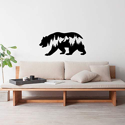 Vinyl Wall Art Decal - Forest in Bear Abstract - 19.5