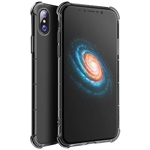 iPhone X Case, Yoyamo Crystal Clear Cover Case Non Slip Shockproof Case with TPU Air Bumper Protection for Apple iPhone X