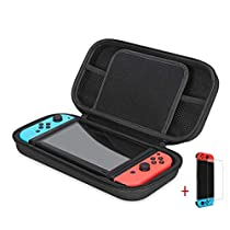 Nintendo Switch Case-Carrying Case and Tempered Glass Screen Protector forNintendo Switch