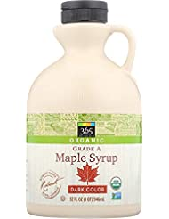 365 Everyday Value, Organic Grade A Maple Syrup Dark Color, 32 Ounce (Packaging May Vary)