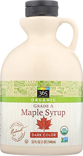 365 Everyday Value, Organic Grade A Maple Syrup, Dark Color, 32 fl oz