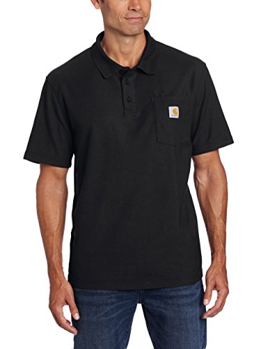 Carhartt Men's Big & Tall Contractors Work Pocket Polo,Black,2X-Large/Tall