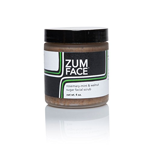 Indigo Wild Zum Face Walnut Sugar Facial Scrub, Rosemary-Mint, 5 Ounce