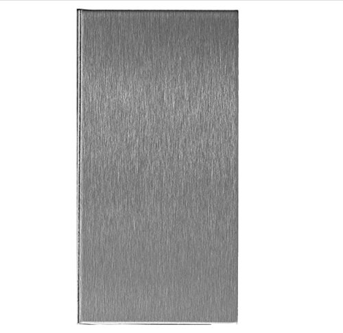 Aspect Peel and Stick Backsplash Brushed Stainless Long Grain Metal Tile for Kitchen and Bathrooms (3'' x 6'' Sample) by Aspect