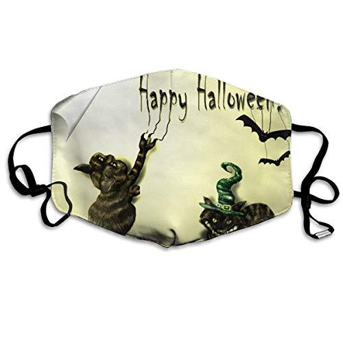 SOADV Mouth Masks Happy Halloween Pattern Mouth Masks Unisex Anti-Dust Flu Washable Reusable Mouth Mask Fashion Design for Girls Women Boys Men ()