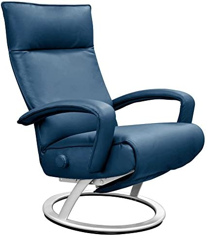 Lafer Gaga Recliner Chair by Cobalt Blue Genuine Leather FC46