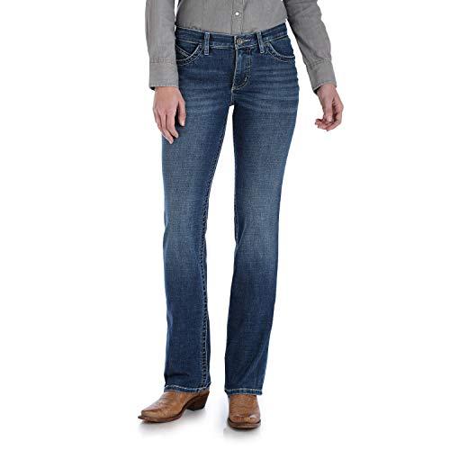 Wrangler Women's Willow Mid Rise Boot Cut Ultimate Riding Jean, Davis, 5W x 32L