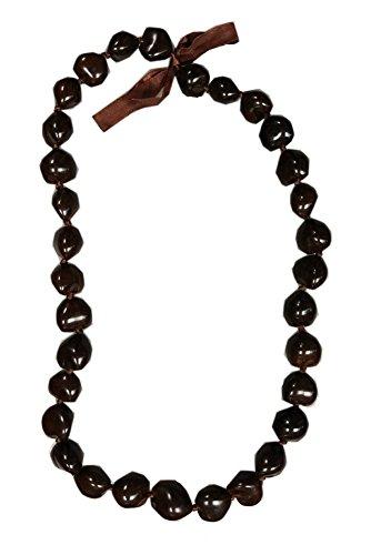 Jade Fashion Inc Hawaiian Necklace Brown Kukui Nut Lei