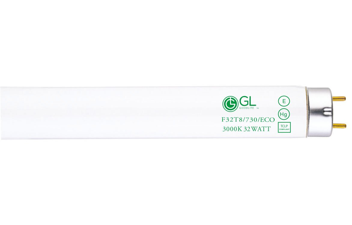 Goodlite G-20246 F32T8/730/ECO  Straight 32 Watt 48-Inch Inch T8 Fluorescent Tube Light Bulb Warm White 3000k