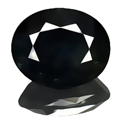 Black Sapphire Facet Oval Unset Loose 14mm