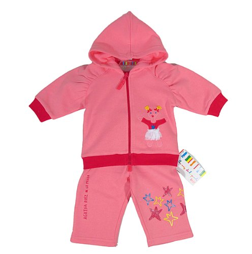 Agatha Ruiz De La Prada - Conjunto deportivo - para bebé niña rosa 9 mes