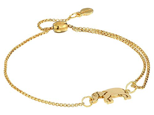 Alex and Ani Women's Elephant Pull Chain Bracelet, 14kt Gold Plated