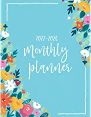 2022-2026 Monthly Planner: 5 Year Calendar Monthly Planner | 60 Month Yearly Large Schedule Organizer, Watercolor Floral Cover