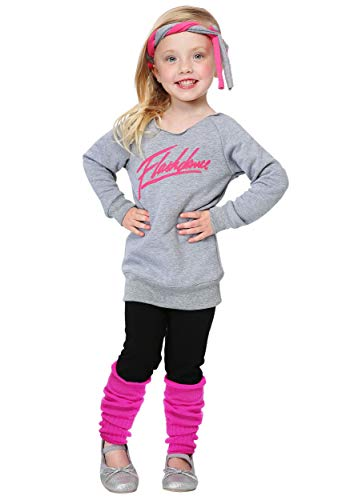 Toddler Flashdance Costume 4T Gray -