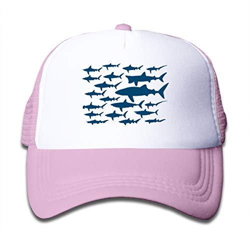 Waldeal Ocean Shark Floral Sea Fish Adjustable Mesh Hat Baseball Trucker Cap for Boys and Girls - Trucker Hat Girls