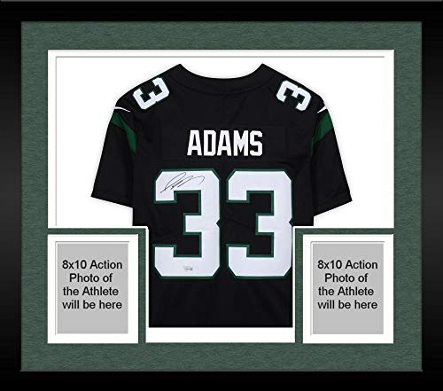 Framed Jamal Adams New York Jets Autographed Nike Black Limited Jersey - Fanatics Authentic Certified
