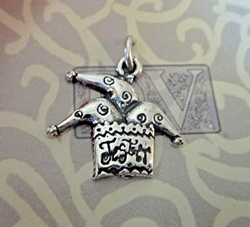 Jester Hats Wholesale (Sterling Silver 16x17mm Theater Court says Jester Hat Comedy Charm DIY Crafting by Wholesale)