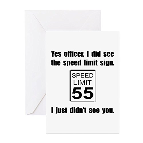 CafePress - Speed Limit Black.Png - Greeting Card, Note Card, Birthday Card, Blank Inside Matte