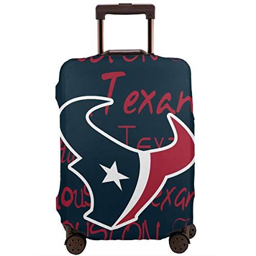 Weckim Houston Texans Suitcase Cover, Washable Flexible Travel Luggage Protective Jacket,Travel Suitcase Protector ()