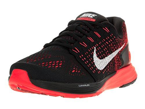 Nike Mens Lunarglide 7 Black / Summit Vit / Brght Crmsn Löparskor 7,5 Män Oss
