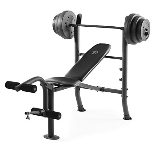 (Gold's Gym XR 8.1 Combo Weight Bench with 100 Lb. Vinyl Weight Set)