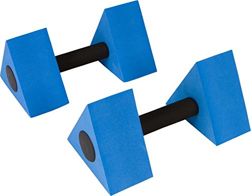 Triangular Aquatic Exercise Dumbells - Set of 2 - For Water Aerobics - By Trademark Innovations