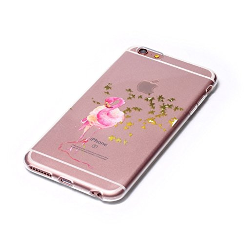 iPhone 6 / 6S Coque , Leiai Transparent Mode Ultra-mince Feuille d'Arbre Oie Silicone Doux TPU Housse Gel Etui Case Cover pour Apple iPhone 6 / 6S
