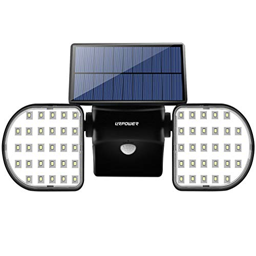 URPOWER Solar Lights Outdoor, Rotatable Dual Head Solar Lights Waterproof Wireless Motion Sensor Wall Light Super Bright Security Lighting Motion Activated Auto On|Off Spotlight for Garden Deck Garage